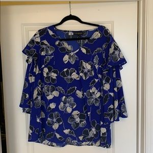 Lane Bryant ruffled blouse